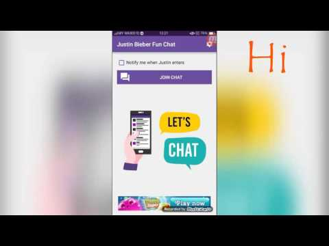 Playing Justin Bieber fun chat/michelle gaming