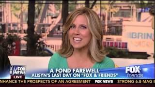 Alisyn Signs Off Fox & Friends!