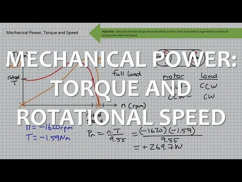 Mechanical Power: Torque and Speed