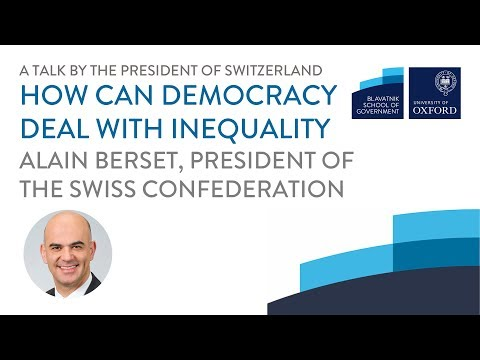 President of Switzerland: How can democracy deal with inequality