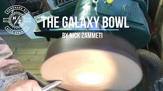 Woodturning - A Galaxy bowl