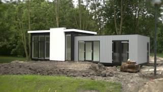 DroomPark Spaarnwoude plaatsing eerste recreatiewoningen