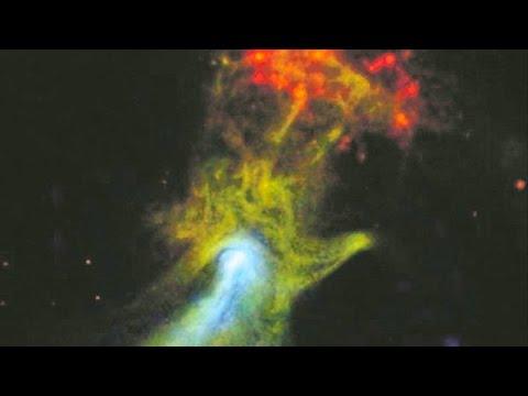 """La increíble """"mano de dios"""" fotografiada por la NASA en el espacio"""