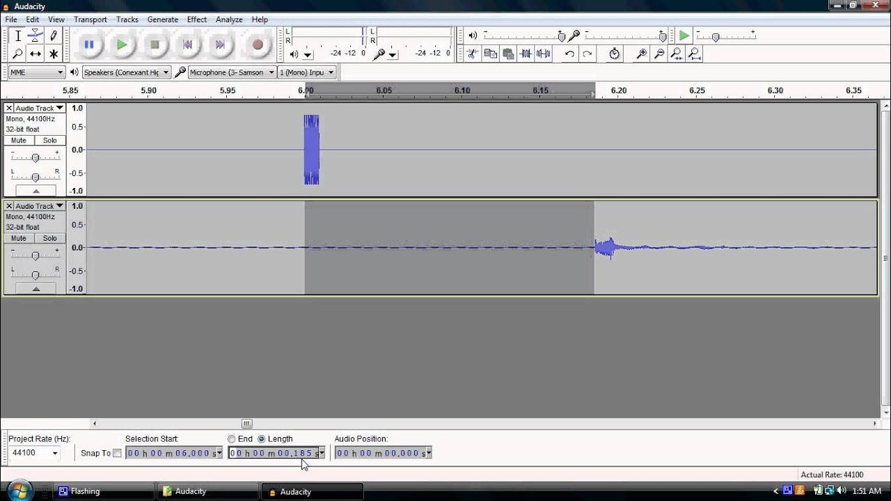how to move music in audacity