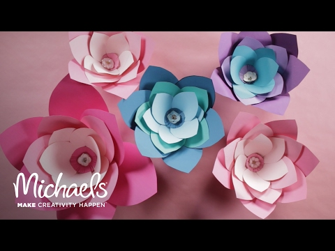 Diy Giant Paper Flower Michaels Youtube