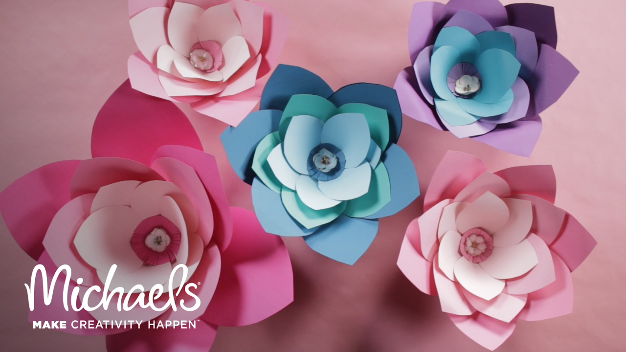 Diy Giant Paper Flower Michaels