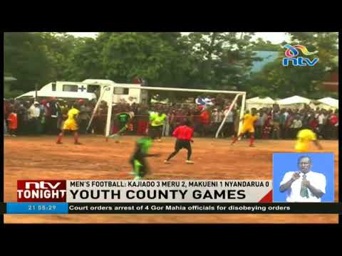 Youth county games going on in Wote town in Makueni