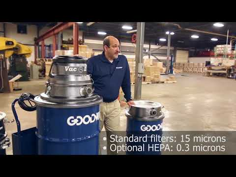 Goodway VAC-2 Industrial Wet/Dry Vacuum With Twin Motors