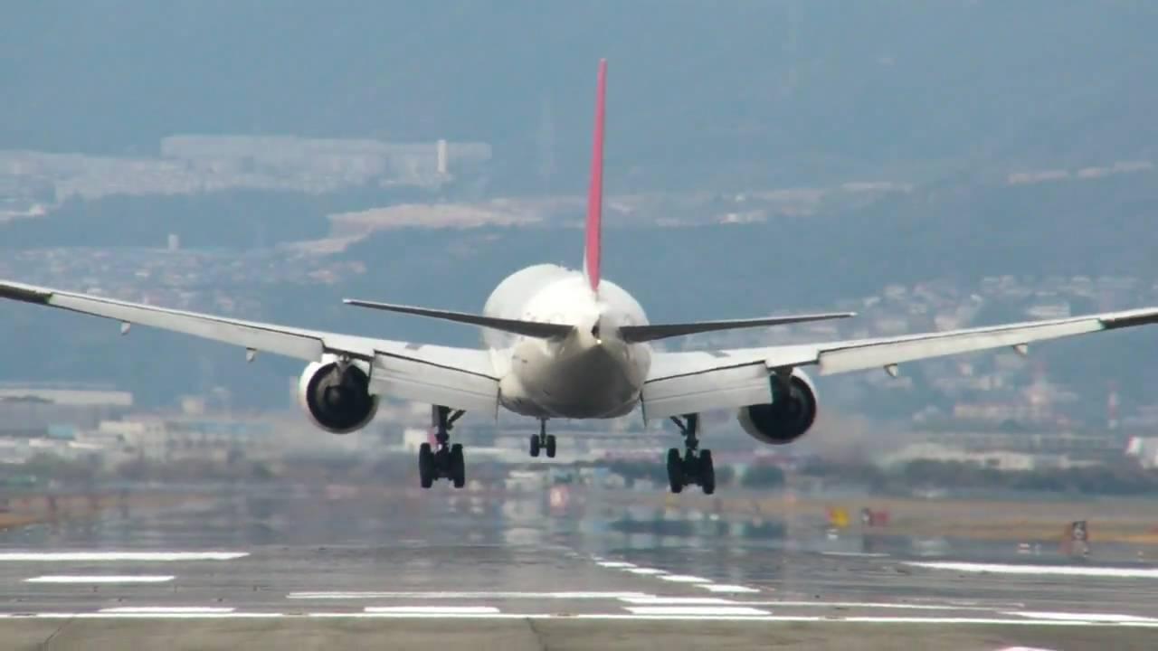 飛行機(着陸)2 - YouTube
