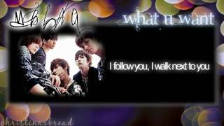 HD [ENG.LYRICS] MBLAQ - What U Want