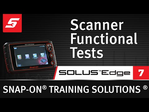 Scanner Functional Tests: SOLUS Edge™ (Pt. 7/8) | Snap-on Training Solutions®