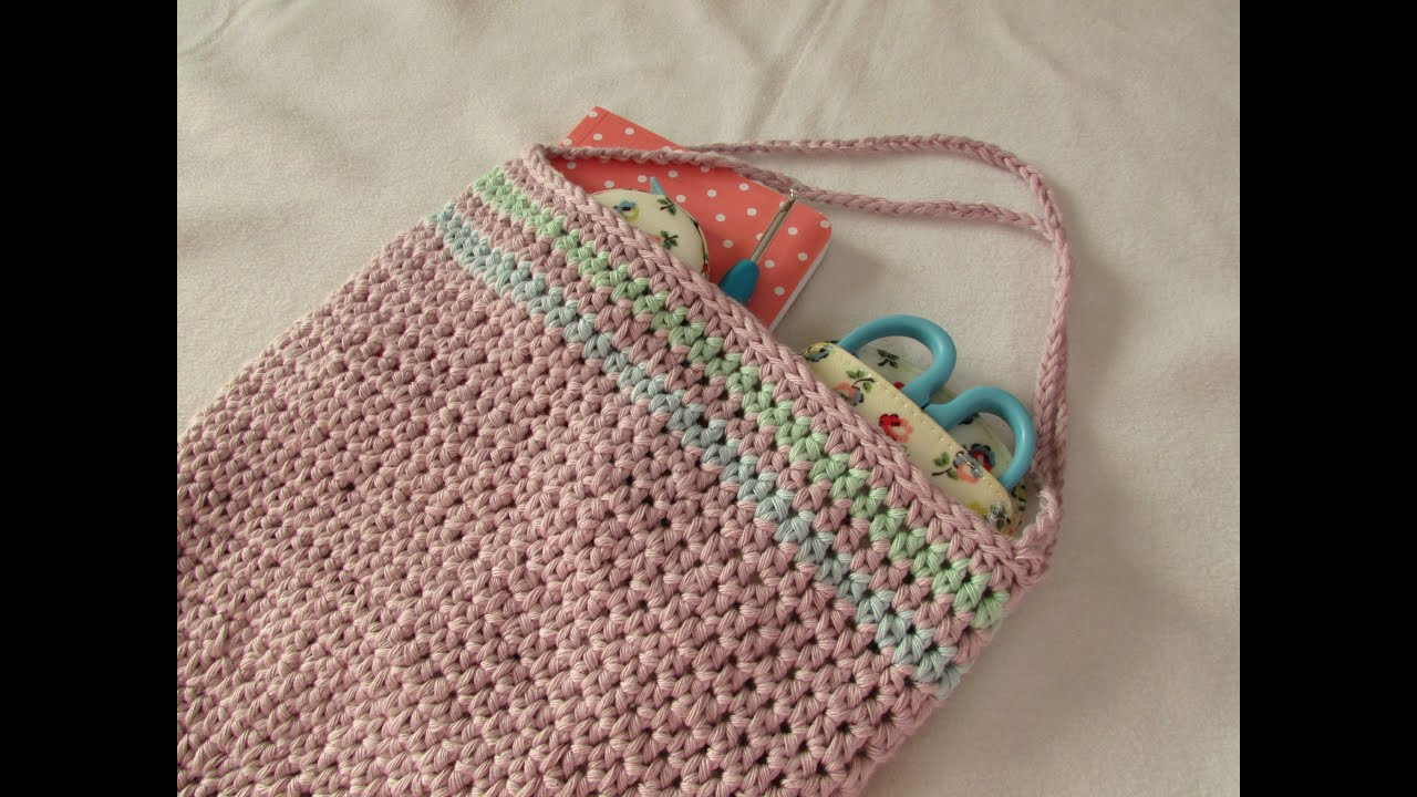 How to crochet a simple round bag purse for beginners youtube ccuart Gallery