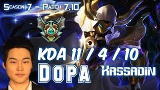 Dopa KASSADIN vs TALIYAH Mid - Patch 7.10 KR Ranked