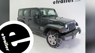 Konig Self-Tensioning Snow Tire Chains Installation - 2017 Jeep Wrangler Unlimited