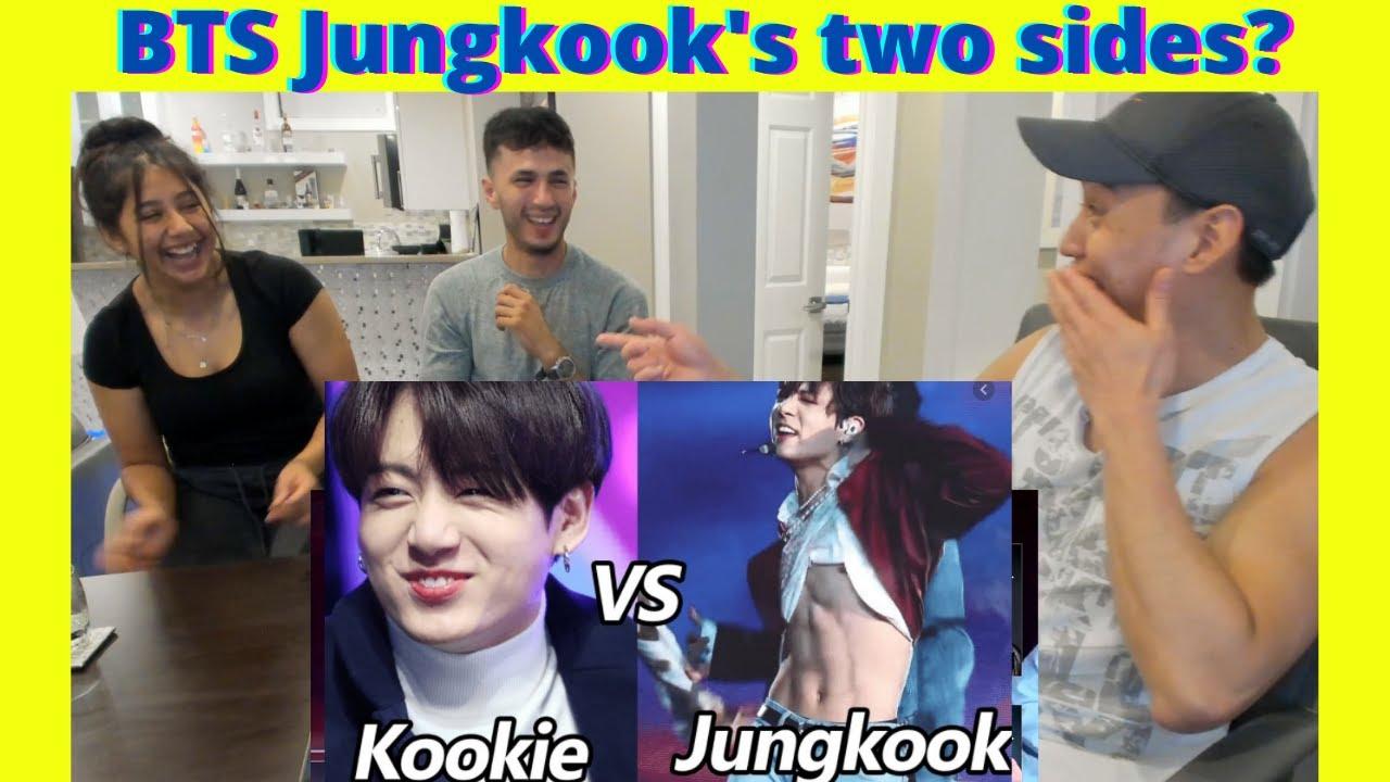 BTS Kookie VS JUNGKOOK - Two Sides of Jeon Jungkook | BTS Jungkook Moments | reaction