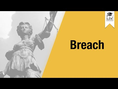 Tort Law - Negligence - Breach