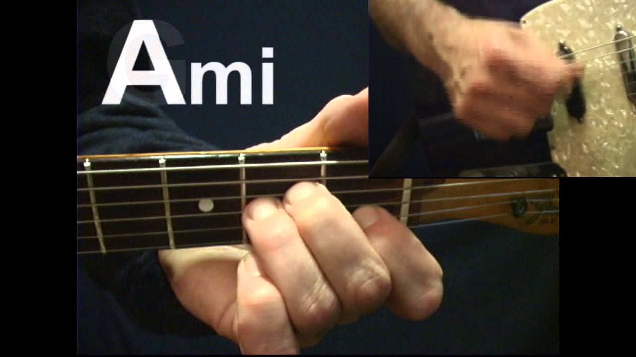 Changing Chords Quickly Switching G To Ami Rhythm Guitar Lesson