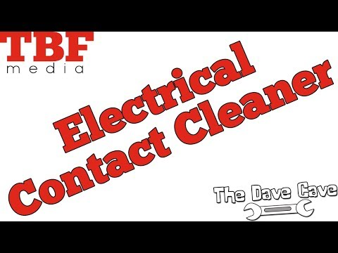 How to use Electrical Contact Cleaner - The Dave Cave