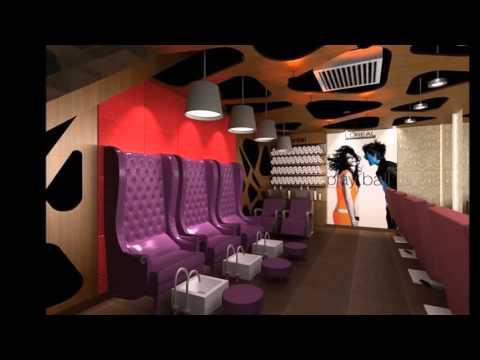 Beauty Salon Interior Design -Hair N Shanti - Gurgaon - India