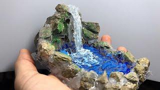 Dekoratif Şelale Süs Havuz Yapımı (Waterfall Glue Gun)