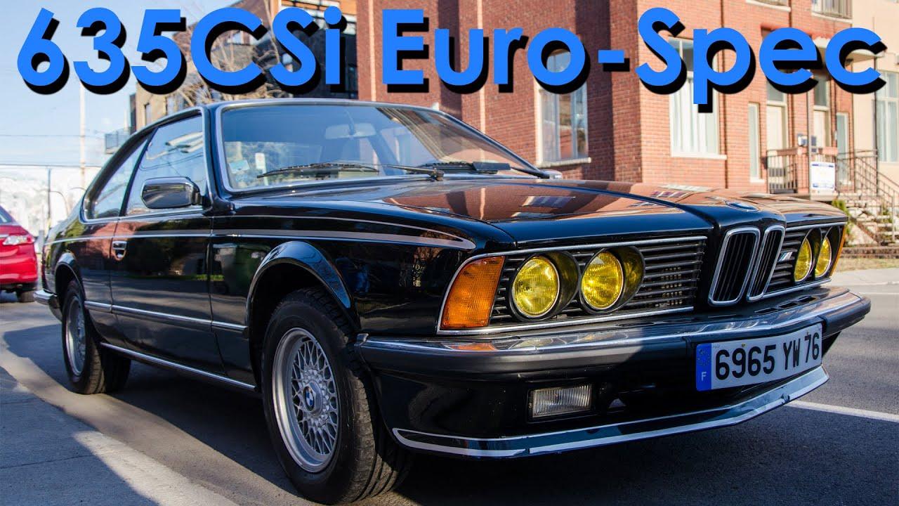 classic car showcase 1983 89 bmw 635csi euro spec with start up