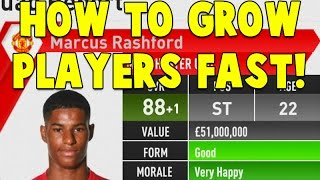 FIFA 17: CAREER MODE TRAINING TUTORIAL! HOW TO GROW PLAYERS FAST?