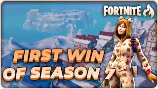 first win of season 7 w/ onesie skin and hamirez! | fortnite br gameplay | raysfire