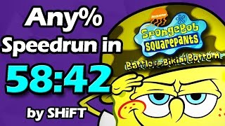 (World Record) SpongeBob SquarePants: Battle for Bikini Bottom Any% Speedrun in 58:42