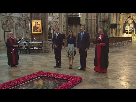 Prince Harry hosts King Felipe VI of Spain at Westminster Abbey