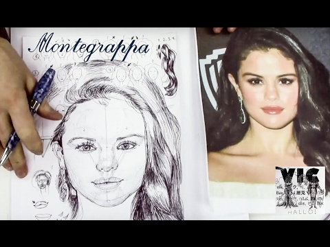 How to sketch a portrait part 1/ Drawing Selena Gomez/ How to draw a female face upside down