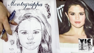 """Hello and welcome to my new drawing tutorial video """"characteristics of a portrait"""" or """"how draw selena gomez - upside down. this is part 1 2 videos. in..."""