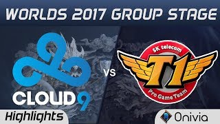 C9 vs SKT   Highlights World Championship 2017 Group Stage Cloud9 vs SK Telecom T1 by Onivia