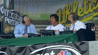 BAL@OAK: Canseco on '89 World Series win