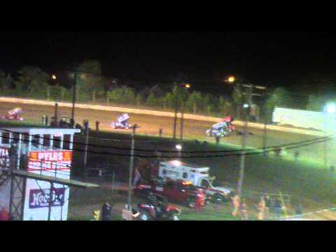 Port Royal Speedway 410 and 305 Sprint Car Highlights 5-25-13