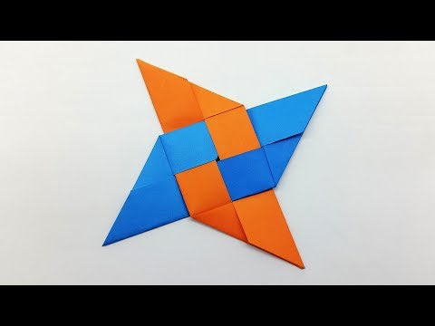 How to make a Paper Ninja Star (Shuriken) very easy - Origami Ninja Star