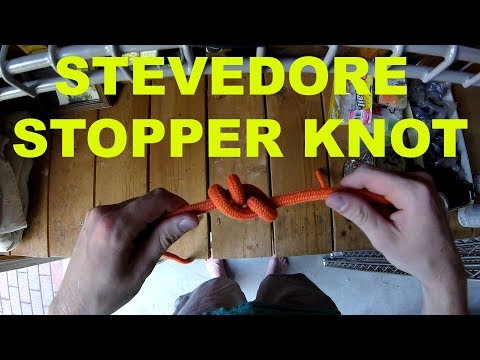 How to Tie a Stevedore Stopper Knot