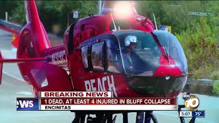 Patient airlifted from deadly Encinitas bluff collapse