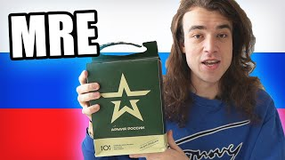 Russian Tries Russian Military Food (MRE)