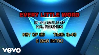 Watch Hal Ketchum Every Little Word video