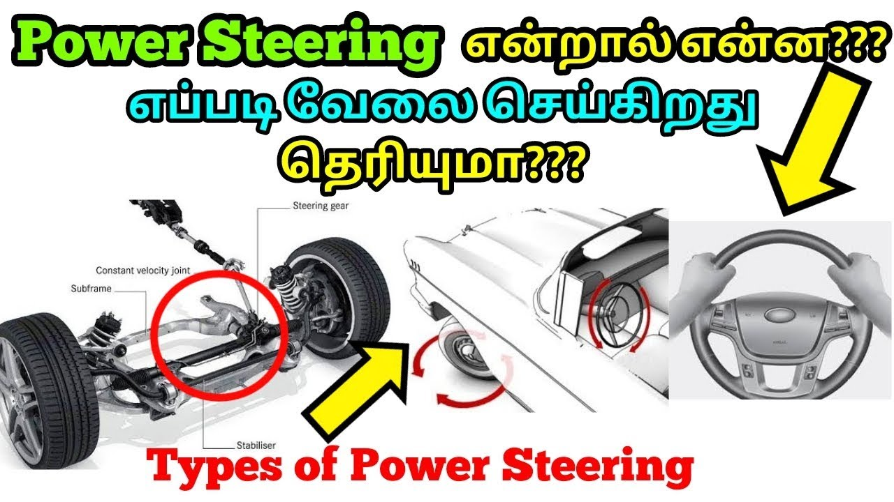 How Does A Steering Works Types Of Explained In Tamil Mech Edu