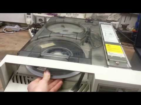 IBM and HP 9-track tape drives in operation