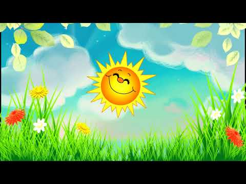 Веселый футаж-заставка Солнышко