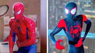 Marvel's Spider-Man - Peter Gets His Bones Broken Vs Miles Gets His Bones Broken