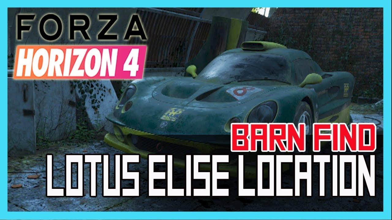 Forza Horizon 4 - Lotus Elise Quarry Barn Find Location