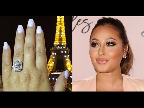 Adrienne Bailons 100K Engagement Ring See Her 6 Carat Sparkler