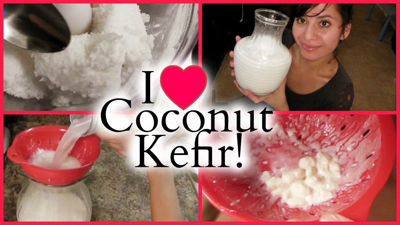 how to make young coconut kefir