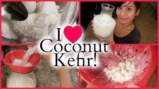 How To Make Coconut Kefir - With RAW Coconut Meat!