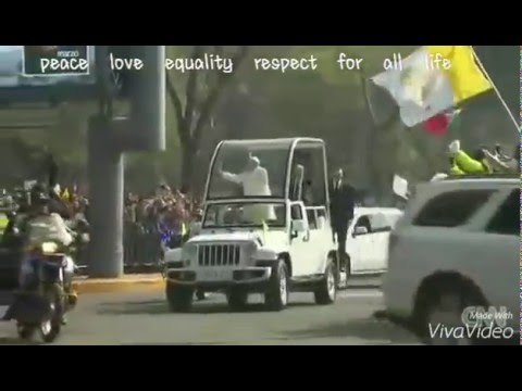 Pope Francis in Mexico,the Americas : Pope in the Pope mobile