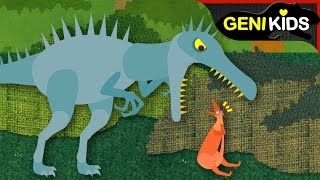 ▶Genikids Dino Movie◀ #3  Funny Dinosaurs in Hilarious Food Chain | Dinosaurs Short Cartoon for Kids
