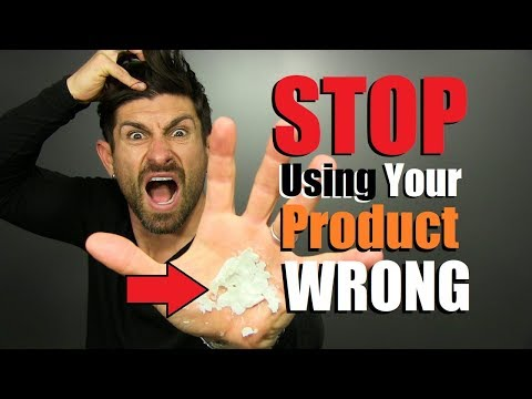 6 Common Hair Product Mistakes MOST Men Make!